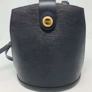 LV Cluny Black Epi Leather Bucket Shoulder Bag